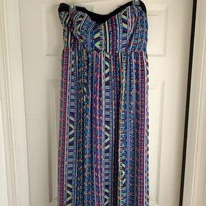 Torrid strapless maxi dress